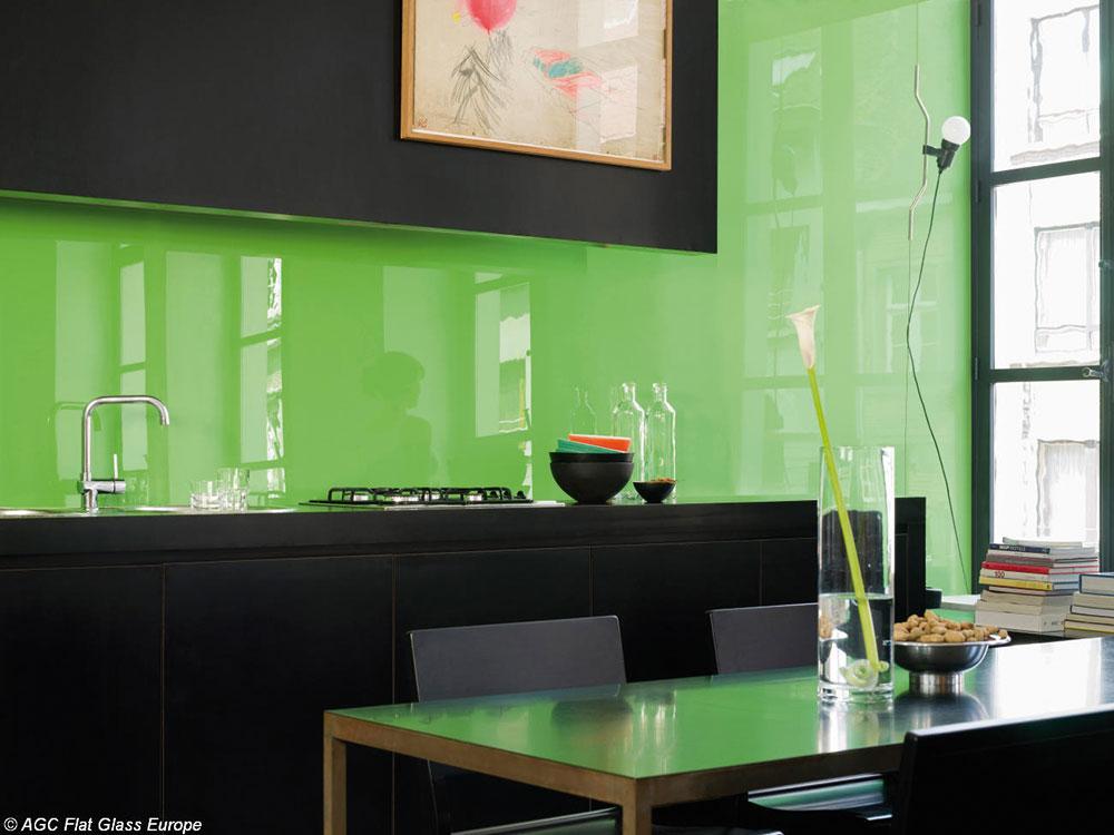 Beautiful Lackiertes Glas Küchenrückwand Contemporary ...