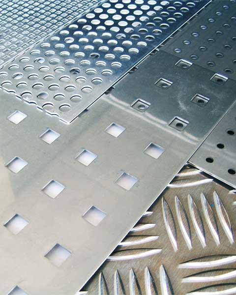 Aluminiumblech, Stahlblech, Warzenblech, Lochblech, Rippenblech