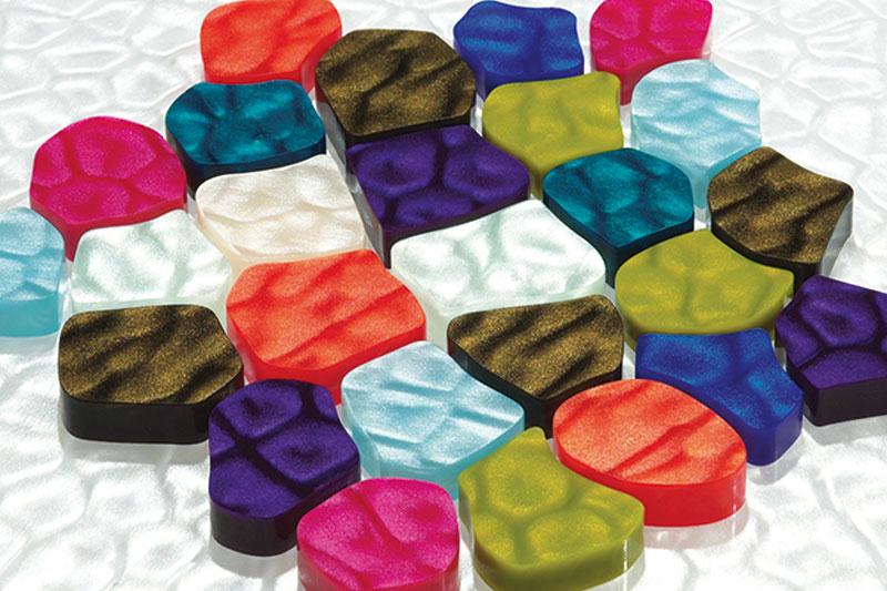 Perspex Coral Farben Designplatte