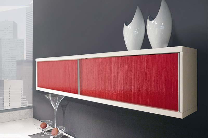 Sibu Designplatten Kunststoff Wandschrank AC TOUCH Red