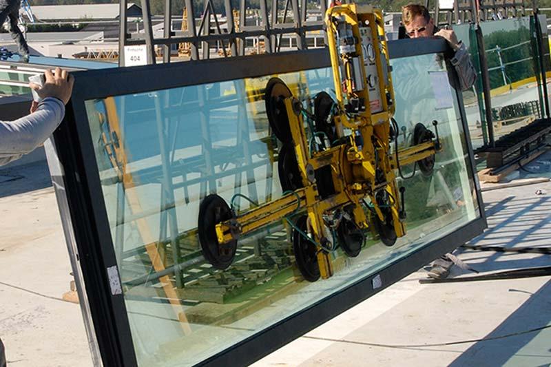 Saugheber Montage Glaseinbau Glasmontage