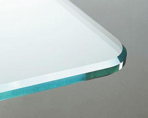 Glasbearbeitung Kantenbearbeitung Polierte Kante Mit Rundecke