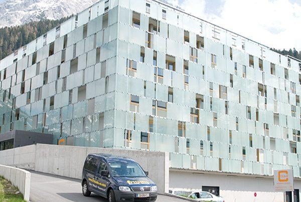 Glasfassade Design Punktbefestigung