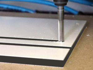 Bearbeitung Hartschaumplatte Kunststoff Friboard Pvc