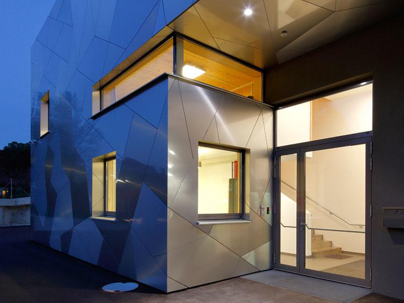 Brandschutz Eingang Fassadenplatten Etalbond Aluminum Verbundplatten
