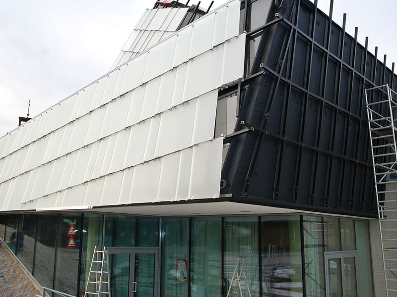 Glasfassaden Unterkonstruktion Schuppenhalter