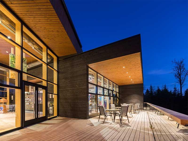 Raico Fritsche Therm+ Alu Aufsatzkonstruktion Holzfassaden Glasfassade Pfosten Tiegel Aufsatzverglasung Holzglasfassade