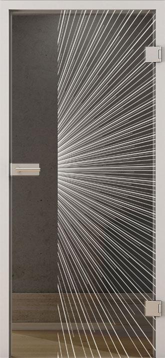 Tuermotiv Lines LD 650 Grauglas