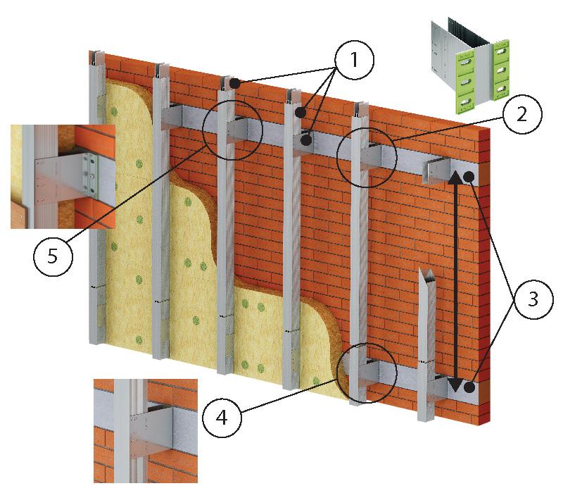 ENSAVE Heavy System Unterkonstruktion Kaufen Detail Fassadensystem Dämmung Montage