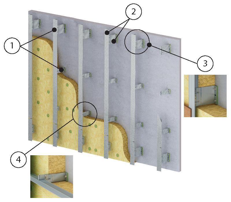 ENSAVE Light System Unterkonstruktion Kaufen Detail Fassadensystem Dämmung Montage