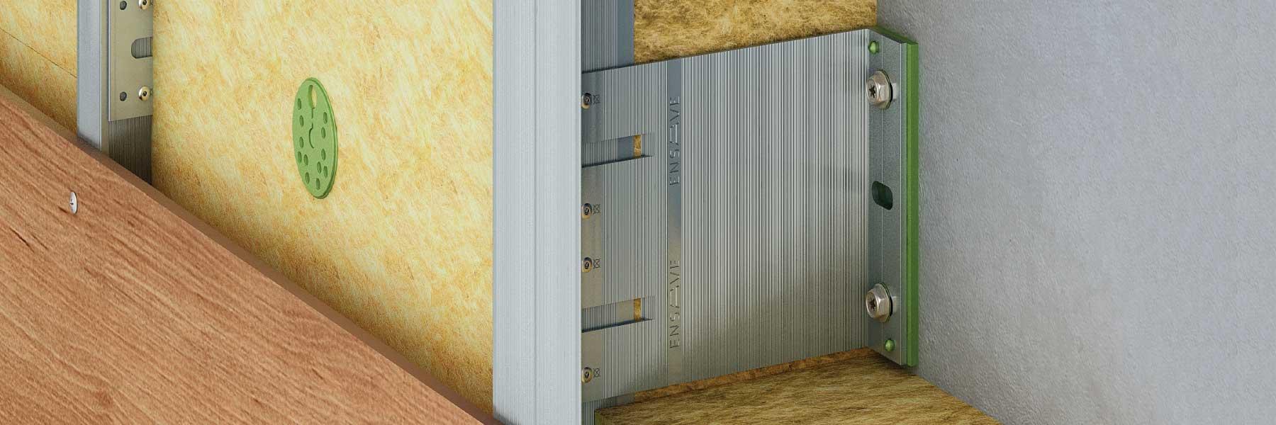 Slider ENSAVE Heavy System Unterkonstruktion Kaufen Detail Fassadensystem Dämmung Montage