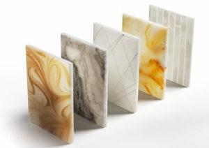 friluxe stone kunststoff designplatten steinoptik kaufen österreich luxuriöse kunststoffplatten Alabasters Marmors Onyx musterplatten