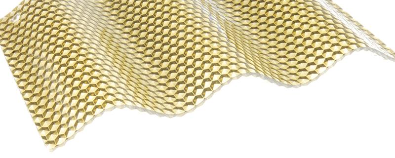 FriCarb Forte Wellplatte Bronze Wabe Wellplatten Polycarbonat Schlagfest Kunststoff