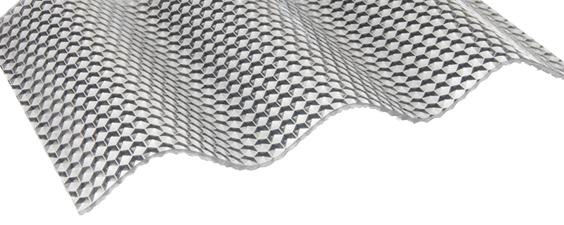 FriCarb Forte Wellplatte Cool Grey Wabe Wellplatten Polycarbonat Schlagfest Kunststoff