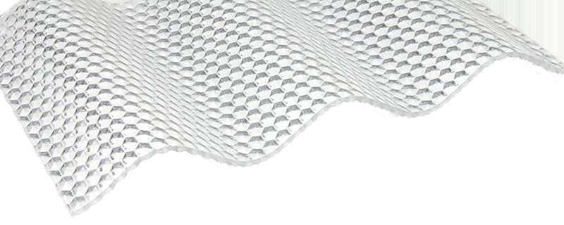 FriCarb Forte Wellplatte Klar Wabe Wellplatten Polycarbonat Schlagfest Kunststoff