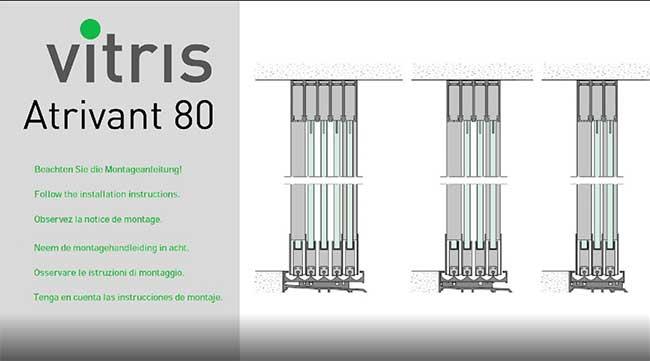 Montagevideo Balkonschiebewand Vitris Atrivant 80