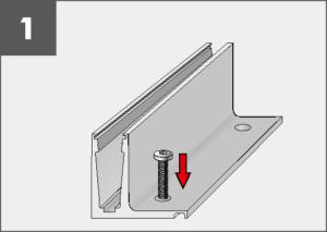 Montage1 Balardo Smart Railing Geländer Glasprofil