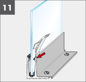 Montage11 Balardo Smart Railing Geländer Glasprofil