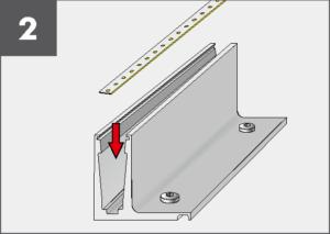 Montage2 Balardo Smart Railing Geländer Glasprofil