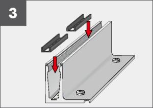 Montage3 Balardo Smart Railing Geländer Glasprofil