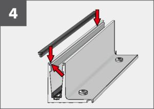 Montage4 Balardo Smart Railing Geländer Glasprofil