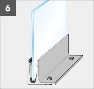 Montage6 Balardo Smart Railing Geländer Glasprofil