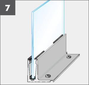 Montage7 Balardo Smart Railing Geländer Glasprofil