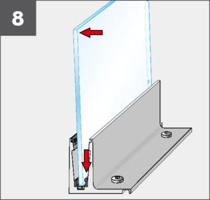 Montage8 Balardo Smart Railing Geländer Glasprofil