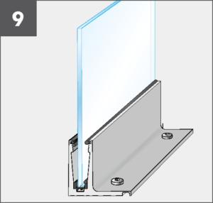 Montage9 Balardo Smart Railing Geländer Glasprofil