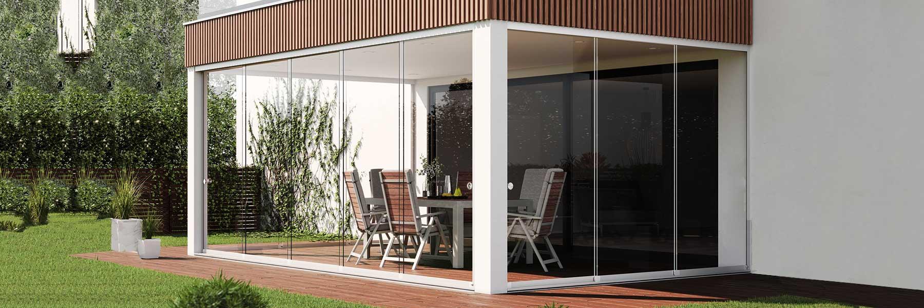 Slider Vitris Atrivant 80 Balkonschiebewand Glasschiebetürbeschlag Mit Endlagendämpfung Und Gedämpfter Flügelmitnahme Balkonanlagen Terrassenanlagen