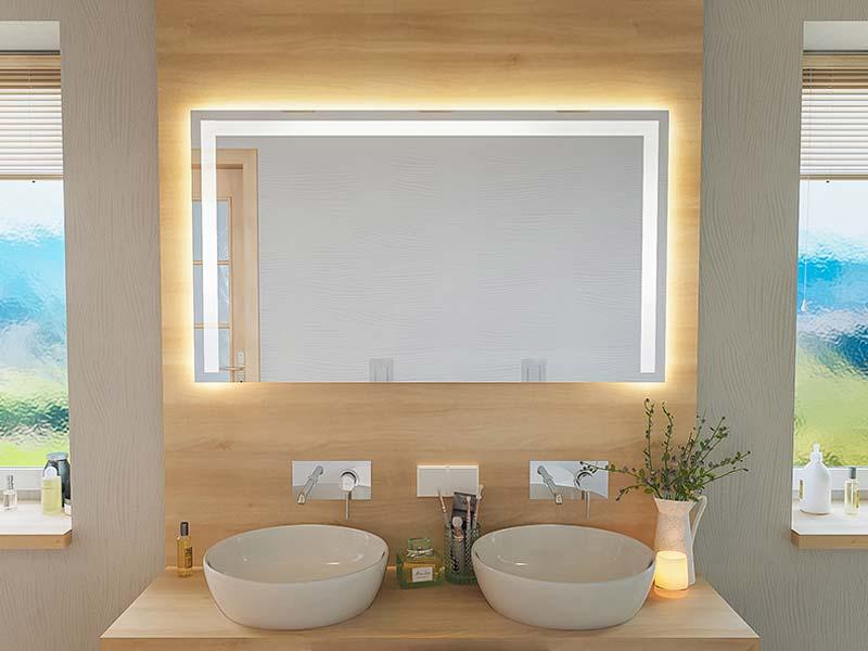 Fri Line Style 018 1 Badspiegel 3 Seitig Beleuchtet Spiegel
