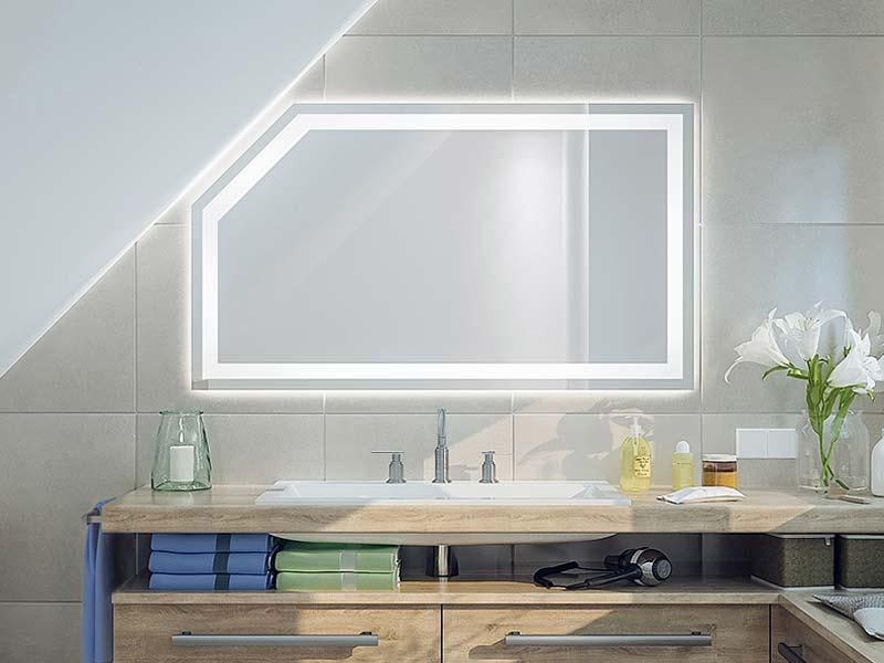 Fri Line Style 034 1 Badspiegel Sonderspiegel Dachschräge Beleuchtet Spiegel