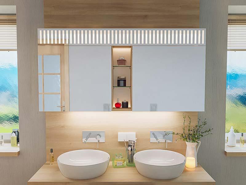 Fri Line Style 048 1 Badspiegel Spiegelschrank Beleuchtetl