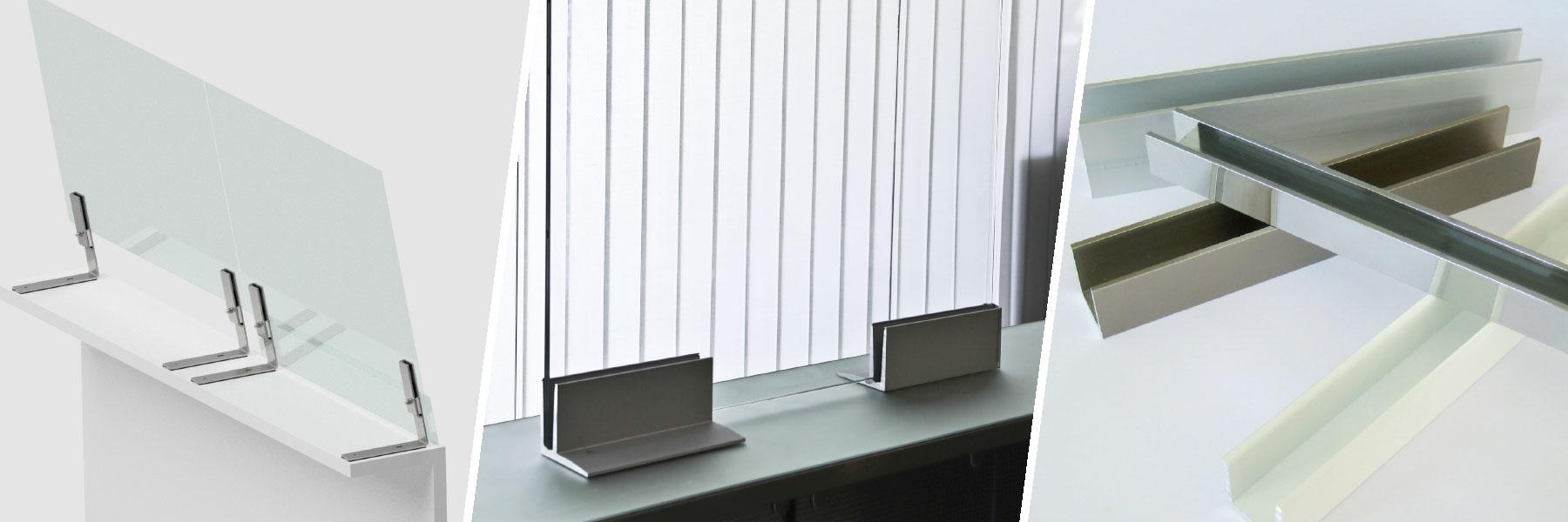 Slider Spuckabwehr Virenschutz Coronaschutz Protect 80 Anlage Glas Kunststoff