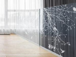 Railing Geländer Mit Vögel Frilaser Glasgravur Kaufen Glasgelaender Mit Motiv