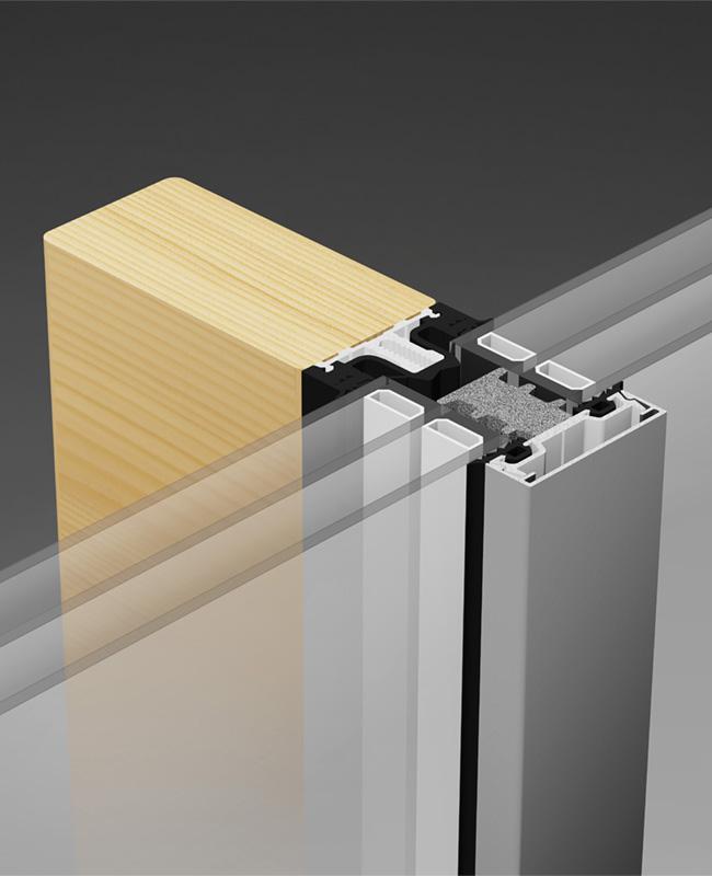 THERM Holz Fassaden Pfosten Riegel Fassade Raico