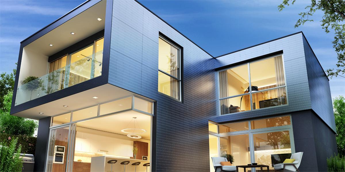 Frisolar Photovoltaikpanelle Aussenwandverkleidung Photovoltaikfassade Hinterlueftet Rahmenlose Module