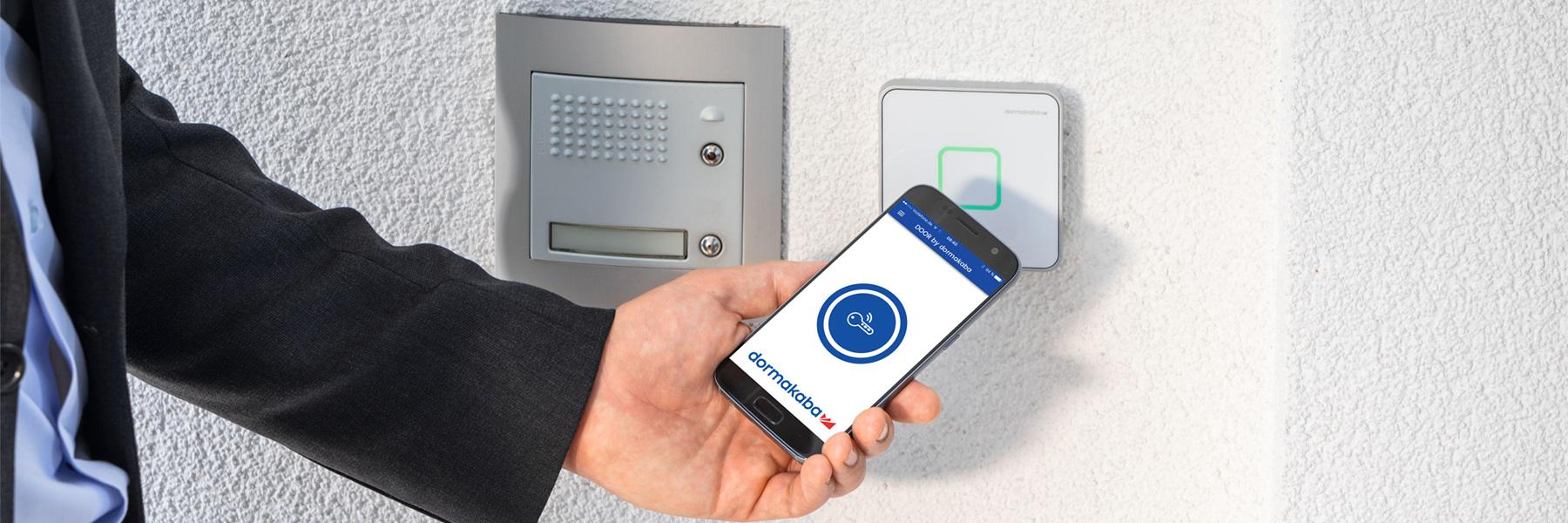 Slider Dormakaba Evolo Smart Mobiles Tuerschliesssystem