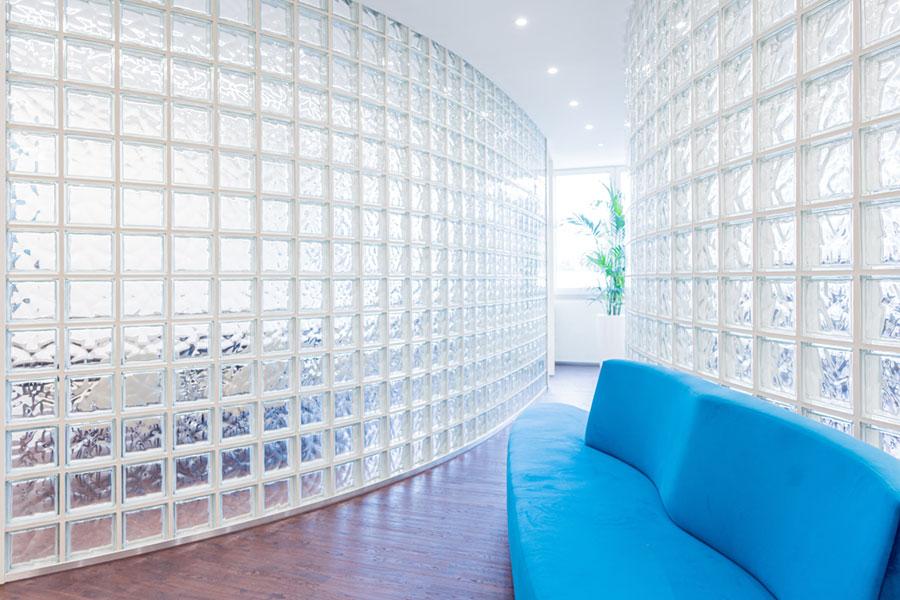 Glasbausteine Geschwungen Wand Buerogestaltung