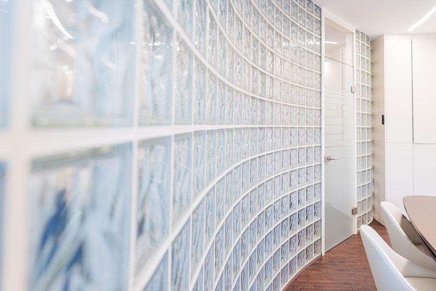 Glasbausteine Geschwungen Wandgestaltung