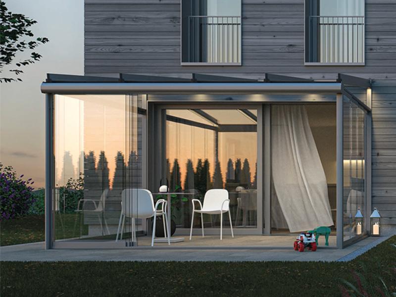 Pure Terrassendach Glasdach Terrassenverglasung Terrassenüberdachung Modern Wintergarten Modern