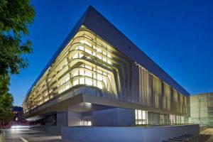 Future Art Lab Wien Fassadenplatten Etalbond Fr Hinterlueftete Fassaden Gebaudegestaltung Beleuchtet